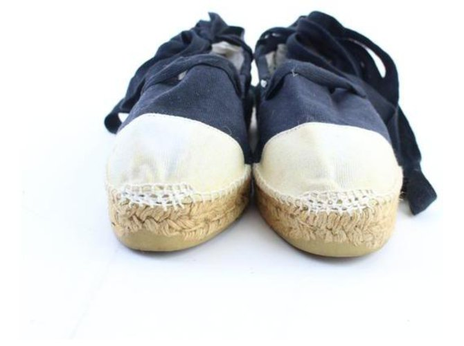 Chanel Ballerina Strappy Tie Espadrilles Ankle Boots Other Other ref.286820