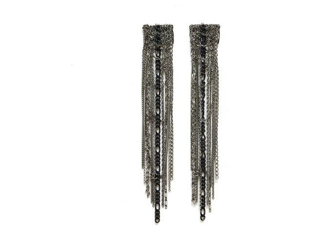 Chanel SILVER METAL CHAINS HAIR COMBS Hair accessories Metal Silvery ref.287059