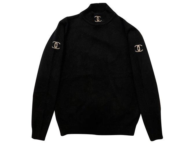 Chanel Coats, Outerwear Coats, Outerwear Wool Black ref.287552