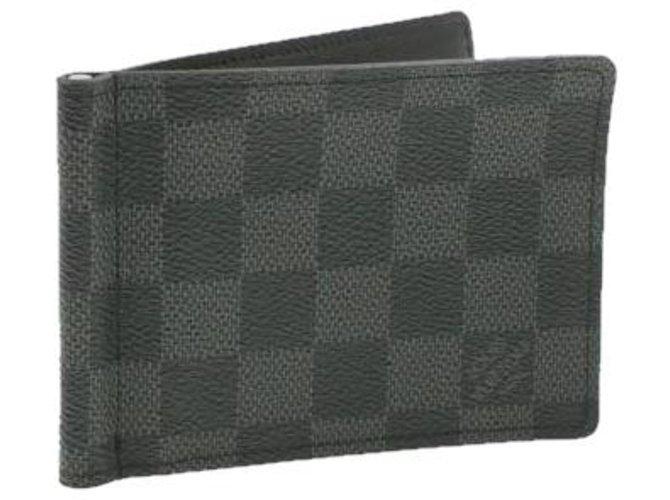 Louis Vuitton LOUIS VUITTON Damier Portefeuille Pince Money Clip Wallet N61000 auth 16983 Purses, wallets, cases Cloth Other ref.288212