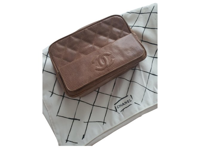 Chanel Camera Handbags Exotic leather Sand ref.288380