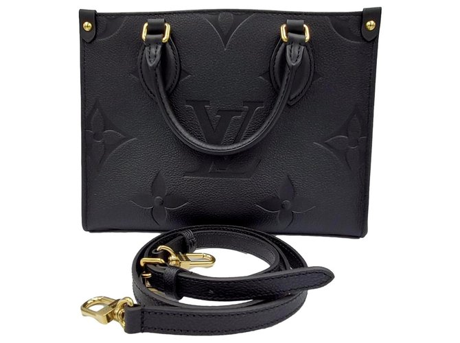 Louis Vuitton PM onthego Black Lambskin  ref.288406
