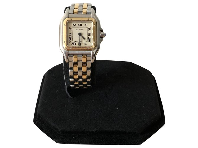 Cartier Cartier Panthère PM Gold and Steel Watch Fine watches Steel Golden ref.288475