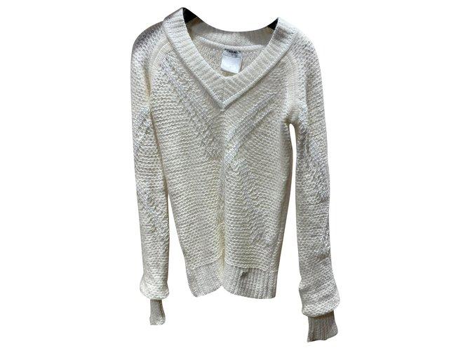 Chanel Knitwear Knitwear Viscose White ref.288486