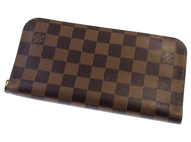 Louis Vuitton Louis Vuitton Brown Damier Ebene Zippy Wallet Purses, wallets, cases Cloth Brown ref.288681