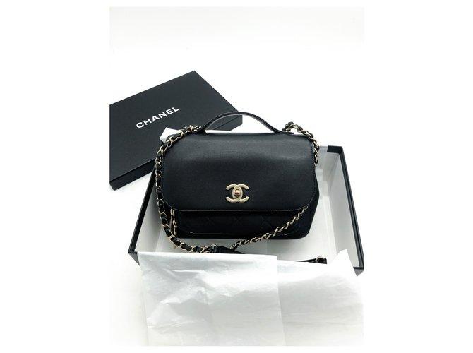 Chanel Chanel black Business Affinity bag full caviar leather Handbags Leather Black ref.288947