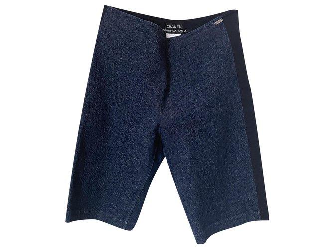 Chanel Stylish Denim Shorts Navy blue  ref.289028