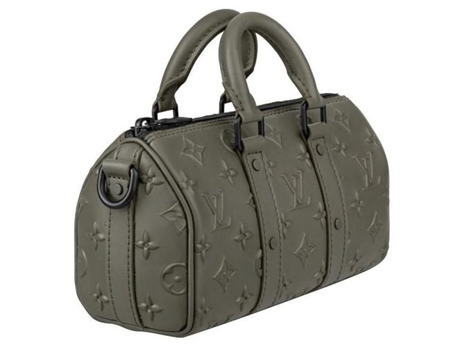 Louis Vuitton LV Keepall XS new Handbags Leather Khaki ref.289197