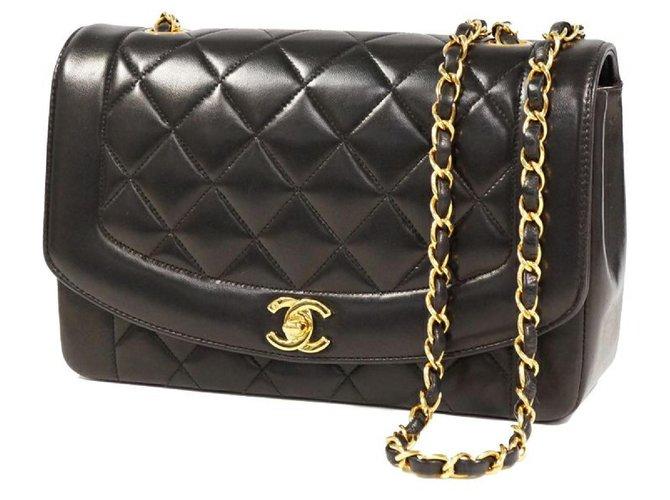 Chanel Chanel Matelassé24.5 Diana Womens shoulder bag blackx gold hardware Handbags Leather Other ref.289229
