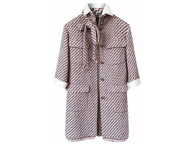 Chanel 12K$ Paris-Rome Tweed Coat Coats, Outerwear Tweed Multiple colors ref.289272