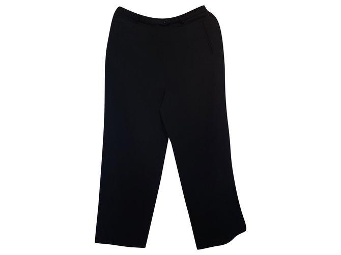 Max Mara Pants, leggings Black Wool  ref.289466