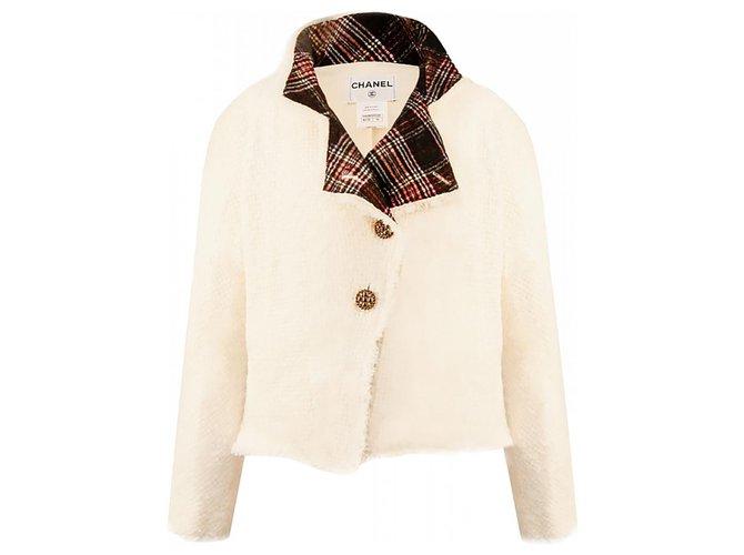 Chanel Paris-Edinburgh Ad Campaign Jacket Cream Tweed  ref.289515
