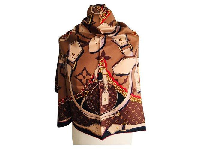 Louis Vuitton Louis Vuitton Tribute Square Silk scarves Silk Multiple colors ref.290603