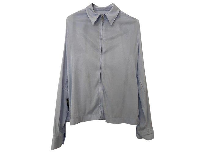 Chanel Knitwear Light blue Elastane Polyamide  ref.290841