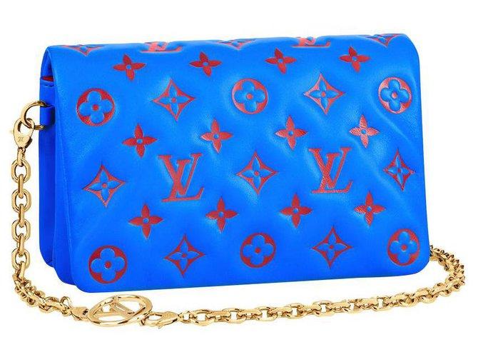 Louis Vuitton LV Coussin pochette new Blue Leather  ref.290922