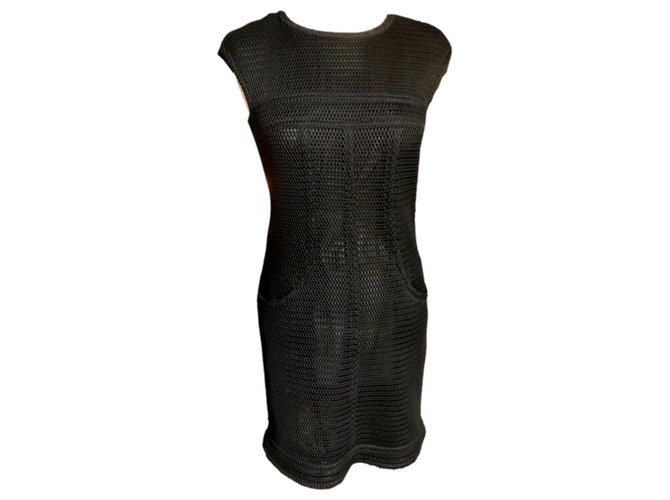 Chanel Black dress Silk Polyamide  ref.311099