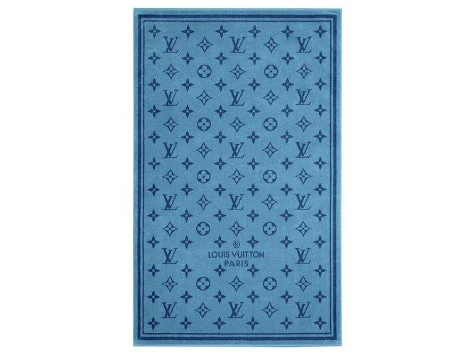 Louis Vuitton LV beach towel new Misc Cotton Blue ref.292281