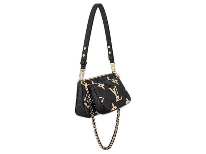 Louis Vuitton LV Multi pochette accessories Black Leather  ref.293146