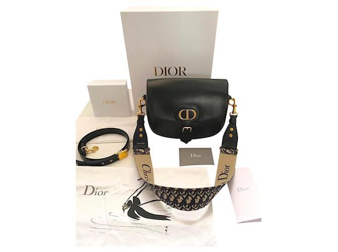 Dior Bobby large model and additional shoulder strap Handbags Leather Black ref.293415