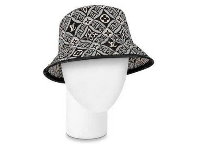 Louis Vuitton 21W Since 1854 Black Monogram Bucket Hat Fisherman Cap Medium MB861051  ref.294082