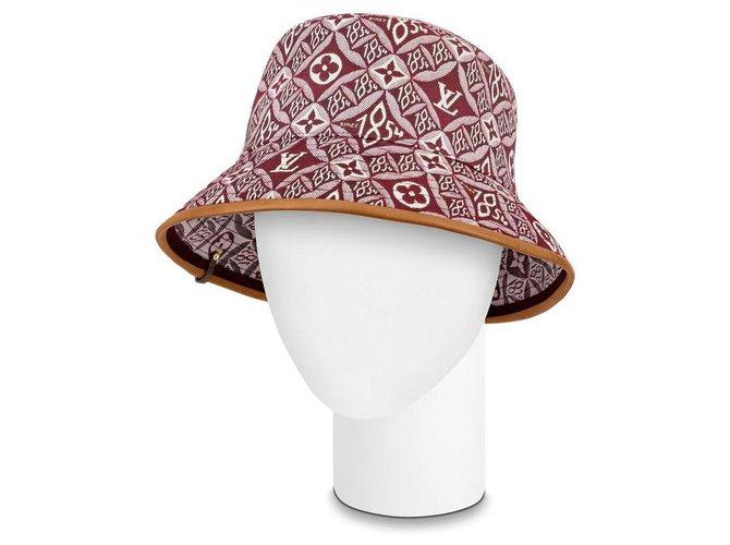 Louis Vuitton 21FW Since 1864 Red Burgundy Monogram Bucket Hat Cap Fisherman  ref.294245