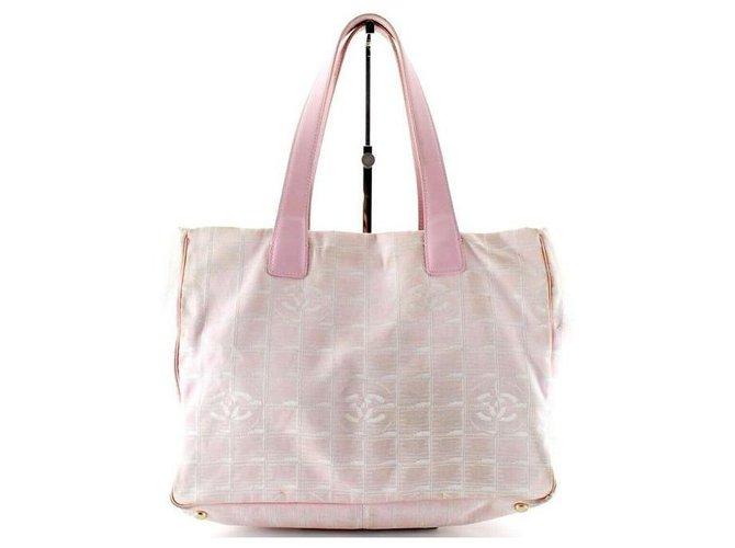 Chanel Pink New Line Tote Shopper Metal Lambskin  ref.294254