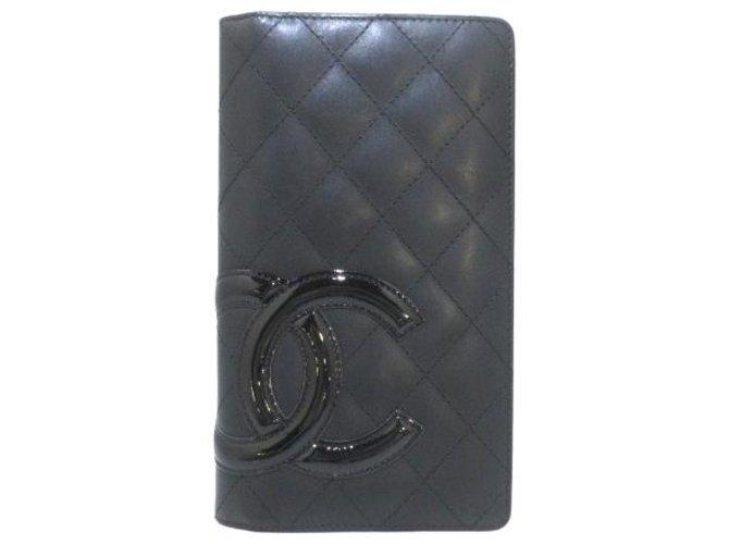 Chanel Cambon Black Leather  ref.295635