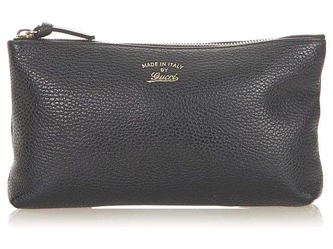 Gucci Black Leather Pouch Pony-style calfskin  ref.297117