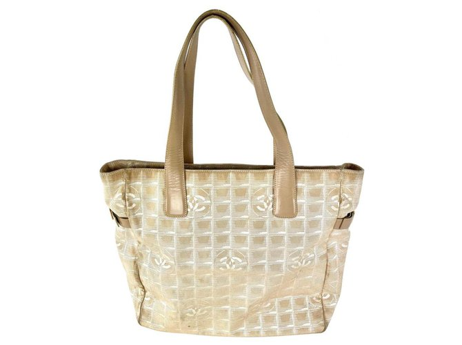 Chanel Beige New Line Tote GM Shopper 3C858 Leather  ref.298946