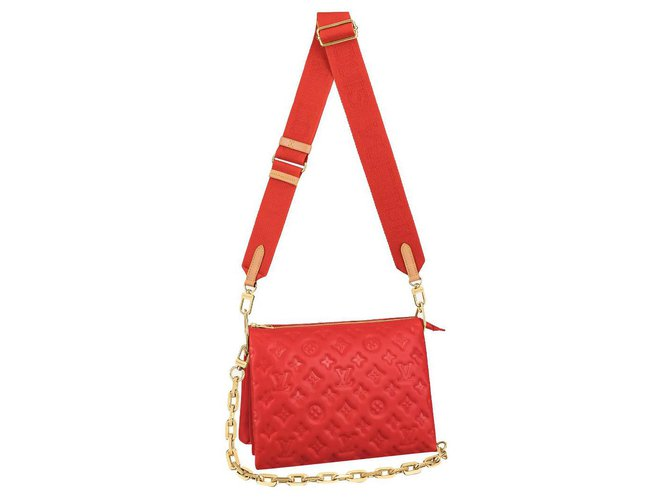 Louis Vuitton LV Coussin Red new Handbags Leather Red ref.300802