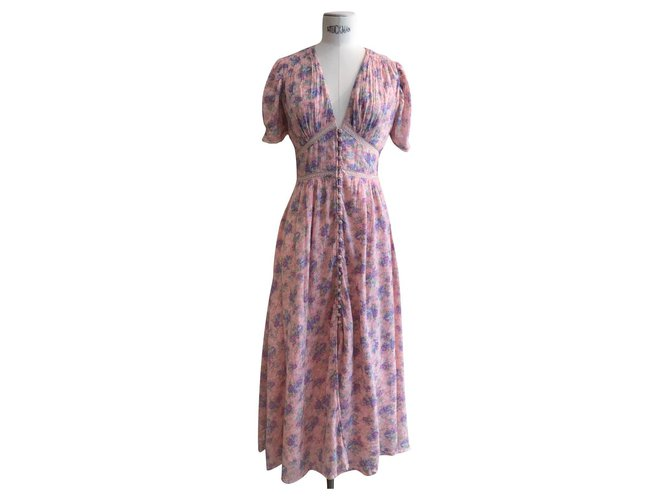 LoveShackFancy Dresses Pink Cotton  ref.302989