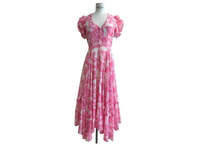 LoveShackFancy Dresses Pink Cotton  ref.302990