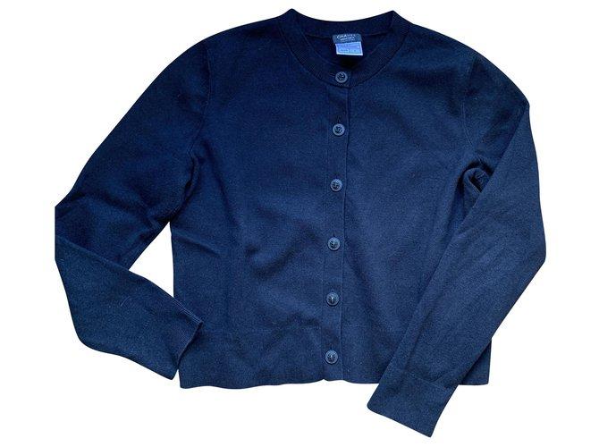 Chanel Cardigan Black Wool  ref.223261