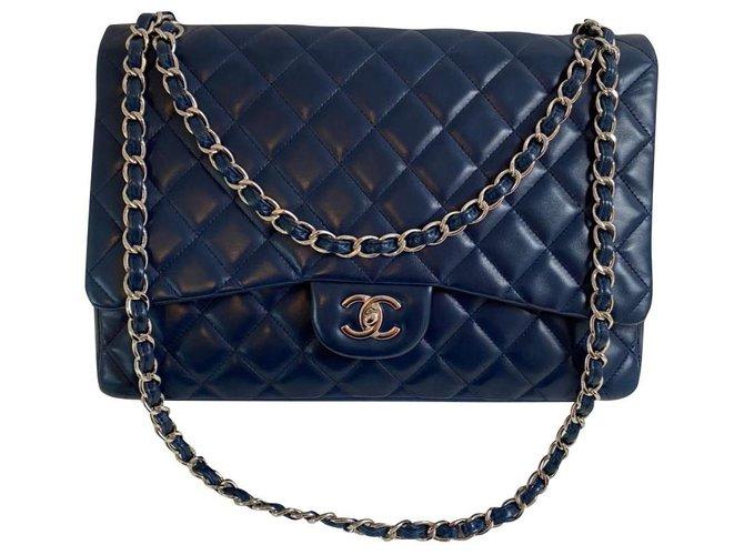Chanel Chanel Handbags Leather Blue ref.303897