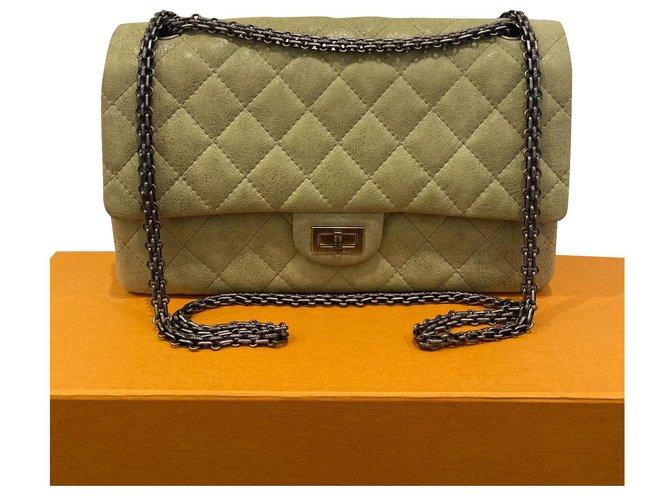 Chanel Chanel 2.55 Reissue 226 Pistachio Color Bag Handbags Nubuck Green ref.304024