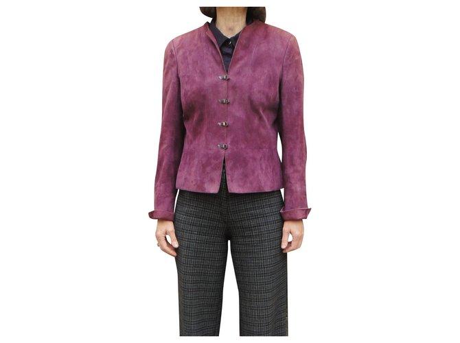 Akris t suede jacket 40 New condition Lavender Deerskin  ref.304038