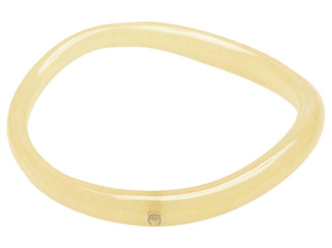 Chanel White Vinyl Tube Bangle Plastic  ref.305748