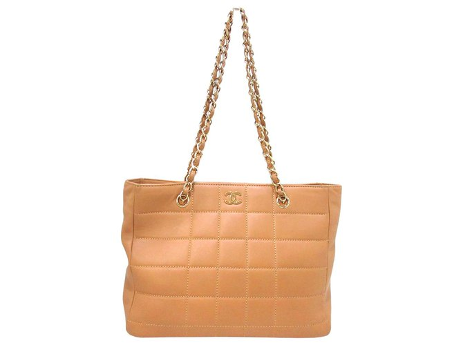 Chanel tote bag Beige Leather  ref.306110