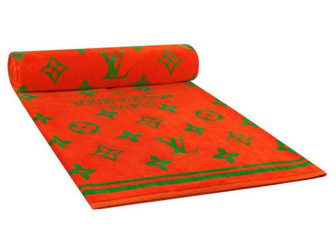 Louis Vuitton LV beach towel new Orange Cotton  ref.306354