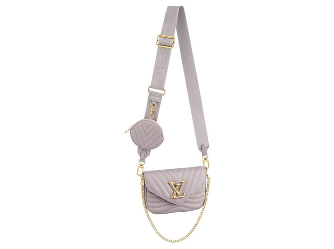Louis Vuitton LV New Wave multipochette Grey Leather  ref.307163