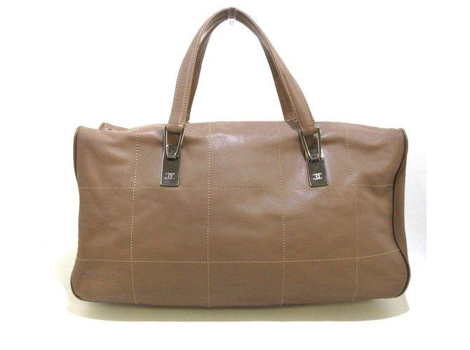 Chanel handbag Brown Leather  ref.307608