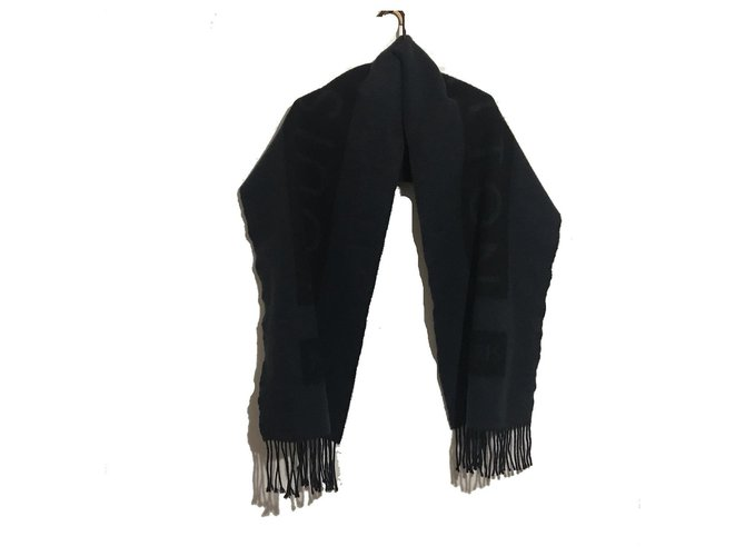 Louis Vuitton Scarf Black Wool  ref.308168