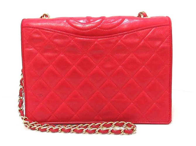 Chanel Wallet on Chain Red Leather  ref.309926