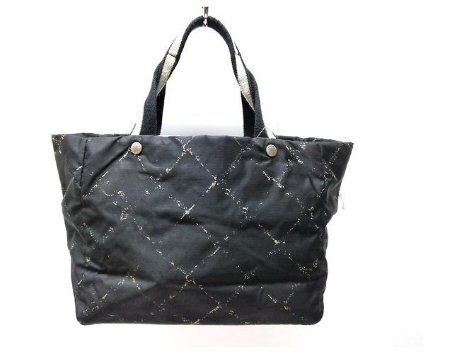 Chanel tote bag Black Synthetic  ref.311074