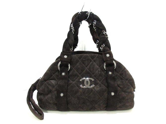 Chanel handbag Black Suede  ref.311092