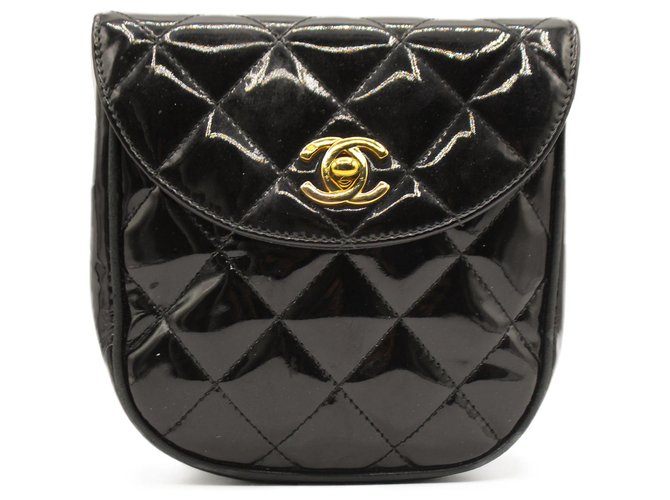 Chanel Patent Beltbag Black Leather Patent leather  ref.312164