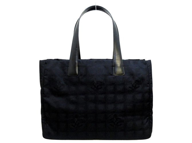 Chanel tote bag Black Synthetic  ref.312214