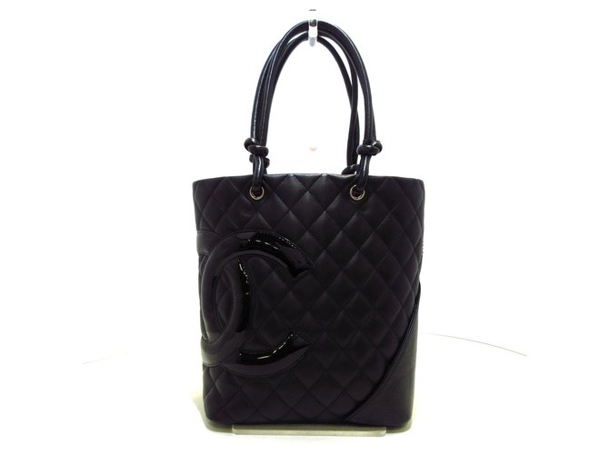 Chanel tote bag Black Leather  ref.312229
