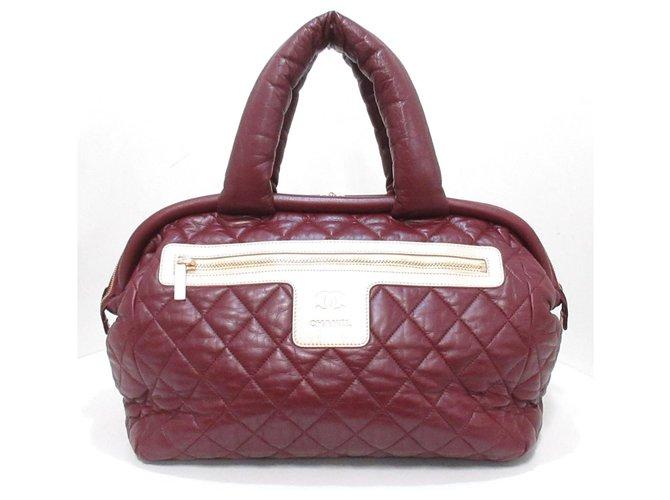 Chanel handbag Red Leather  ref.312314