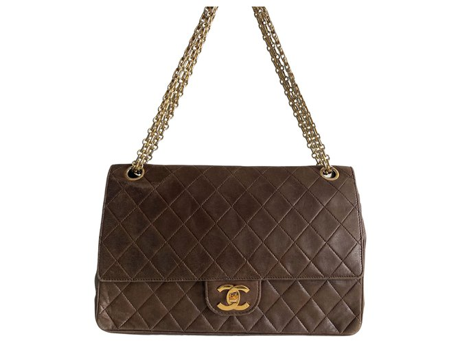 Chanel Classic Flap Brown Leather  ref.312402